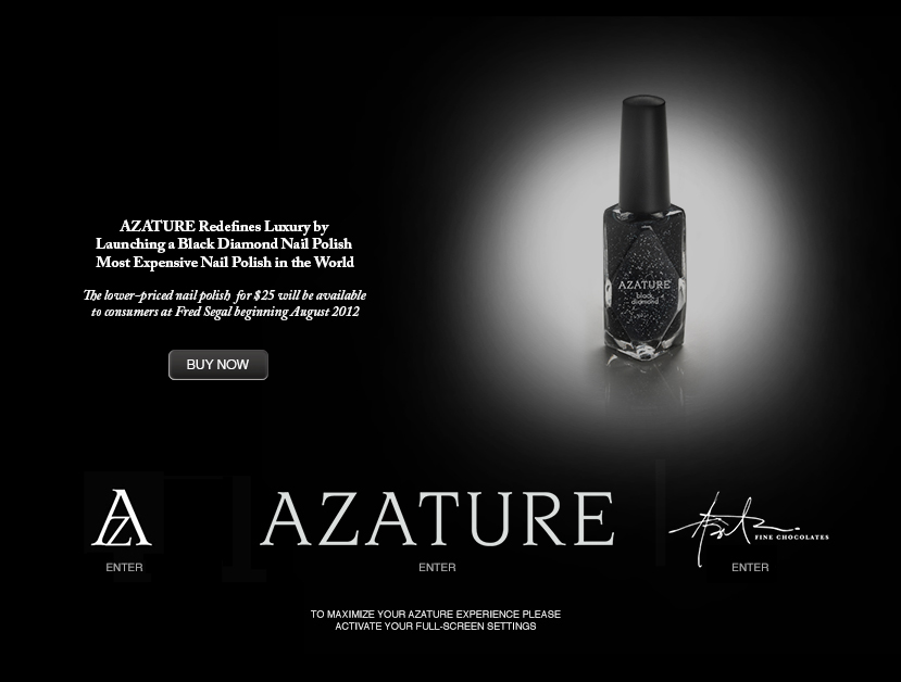 The exclusive AZATURE black diamond nail polish available at Fred Segal